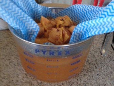straining liquid for jelly