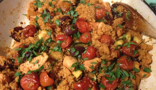chicken and chorizo couscous