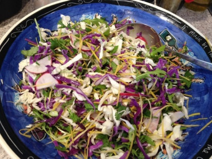 Asian slaw with chicken
