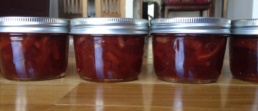 Blood orange and strawberry marmalade
