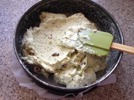 spread into pan