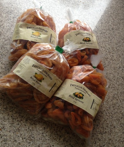dried apricots and pears