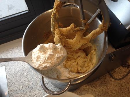 fold in flour