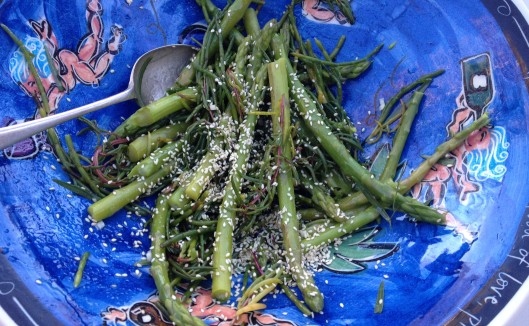 asparagus, samphire and sea-blite salad