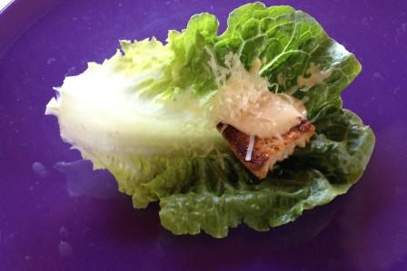 Caesar salad in minature