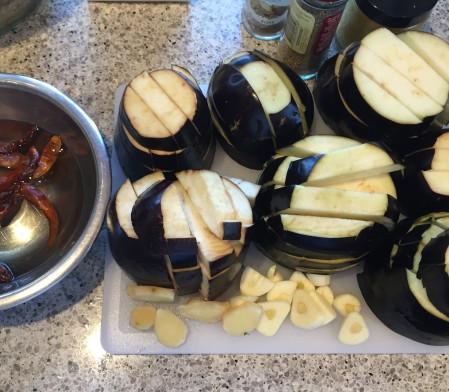 slice eggplant