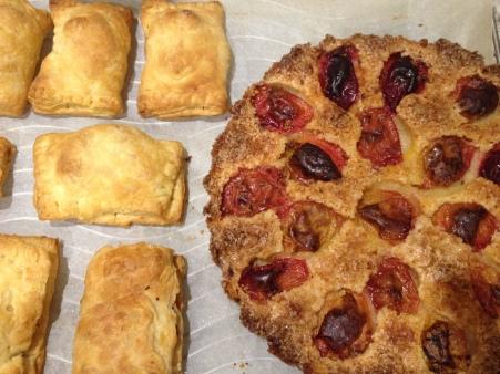 plum tart and hand pies