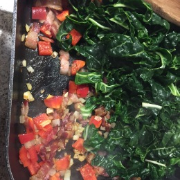 add capsicum and silverbeet