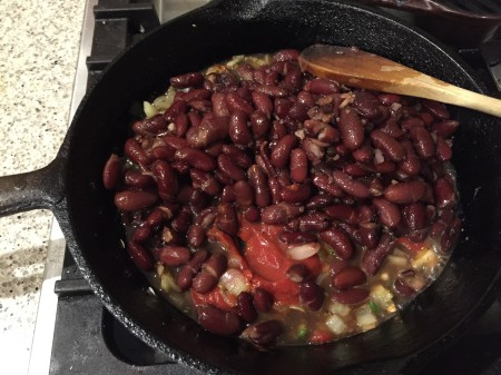 add beans, oregano and tomato paste