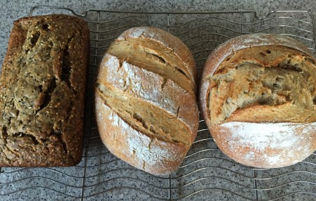 sourdough loaves and banana bread