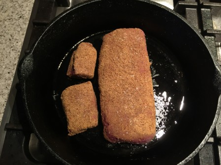fry lamb fillets over medium high heat