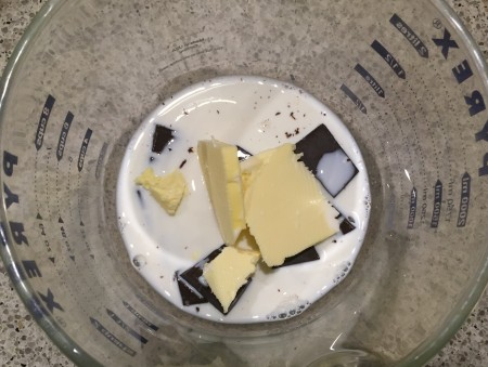 heat butter, chocolate and milk