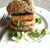 Marinated Tofu and Mushroom Burgers