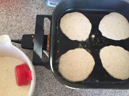cook pancakes until the bubbles hold