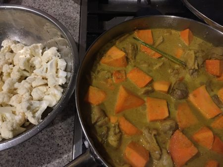 add vegetables to curry