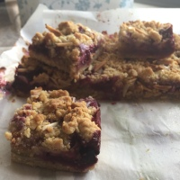 Plum, Fig and Almond Slice