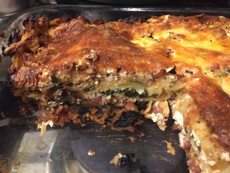 red bean and spinach lasagne