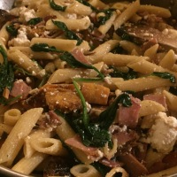 Pumpkin, Spinach, Pancetta and Ricotta Penne