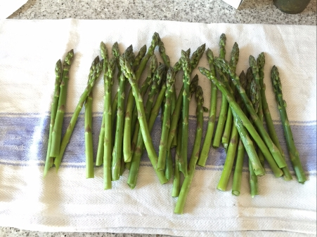 wash asparagus well and steam until just cooked