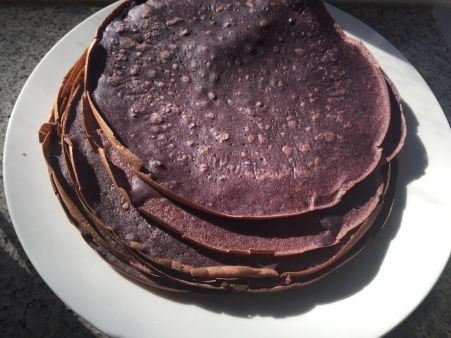 purple corn crepes