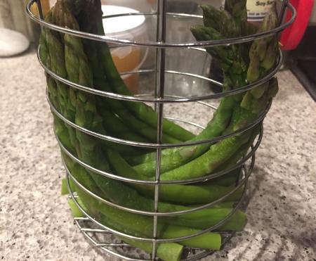 just steamed asparagus