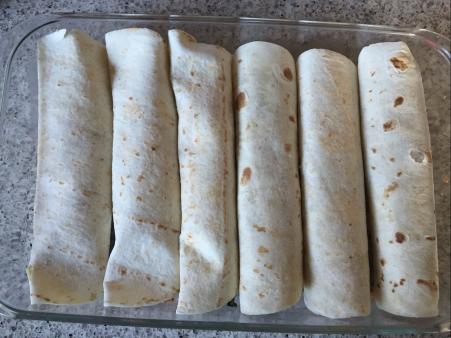 bake rolled burritos