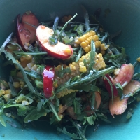 Nectarine, Sweetcorn, and Rocket Salad
