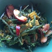 Nectarine, Sweetcorn, and Rocket Salad