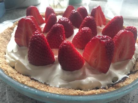 strawboffee pie