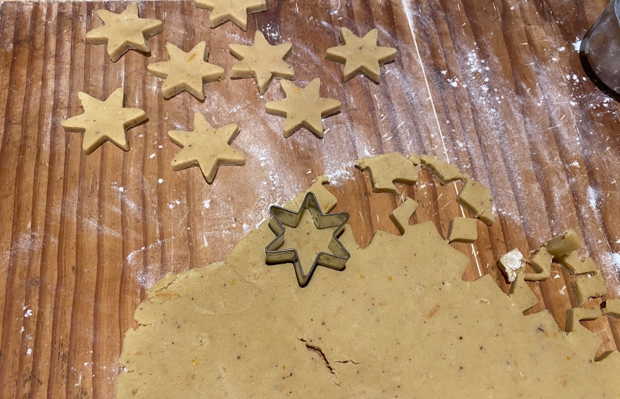 cutting out spied stars